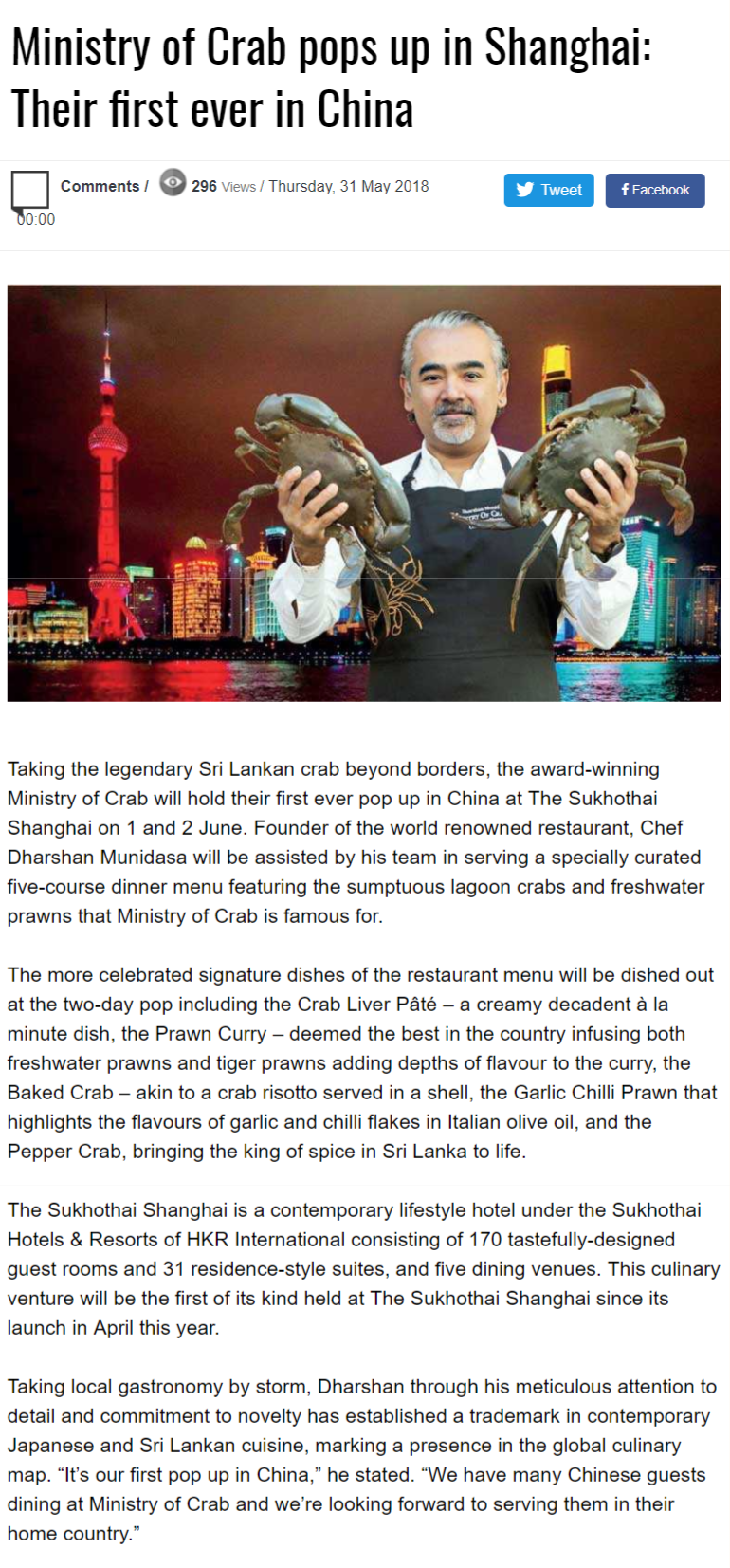Ministry Of Crab Pops Up In Shanghai: Their First Ever In China