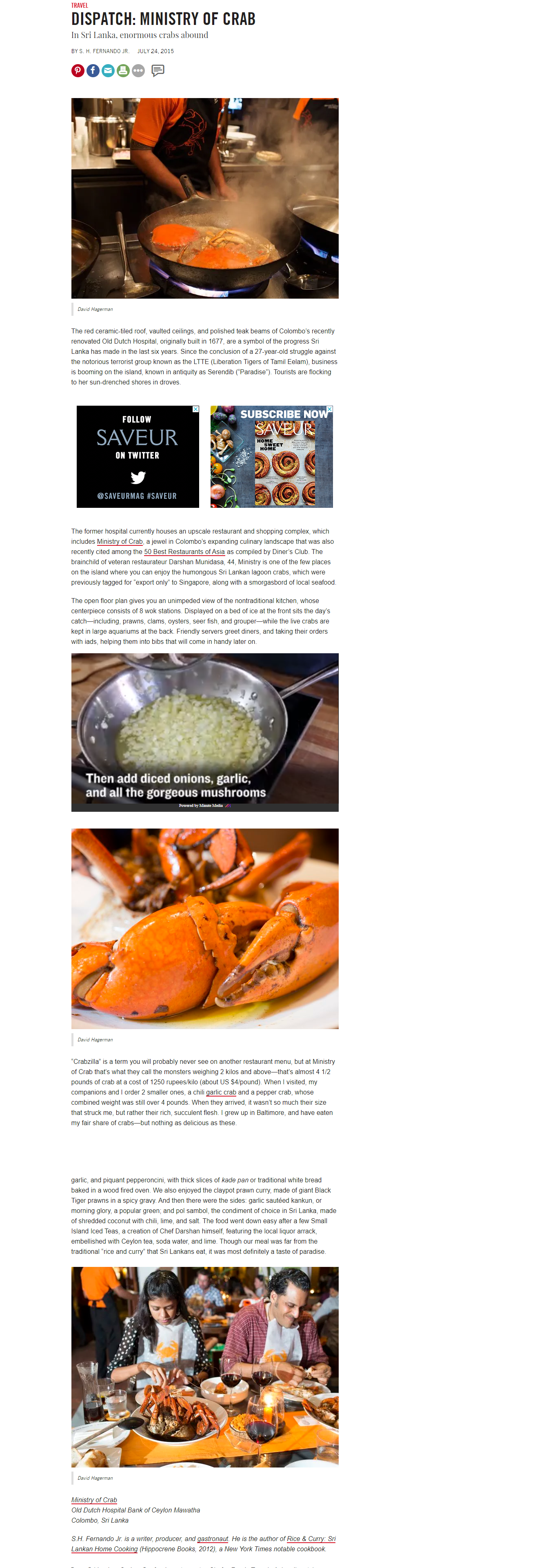 DISPATCH: MINISTRY OF CRAB